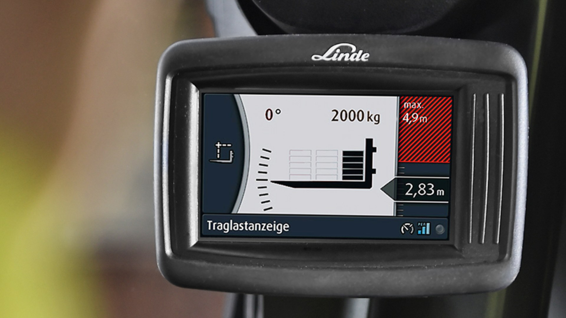 Display of the Linde Safety Pilot