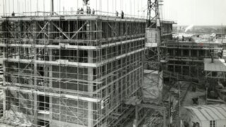 Scaffold on the site in Aschaffenburg