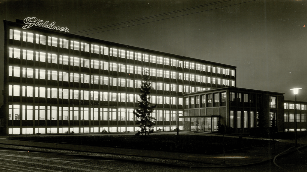 Gueldner building at night