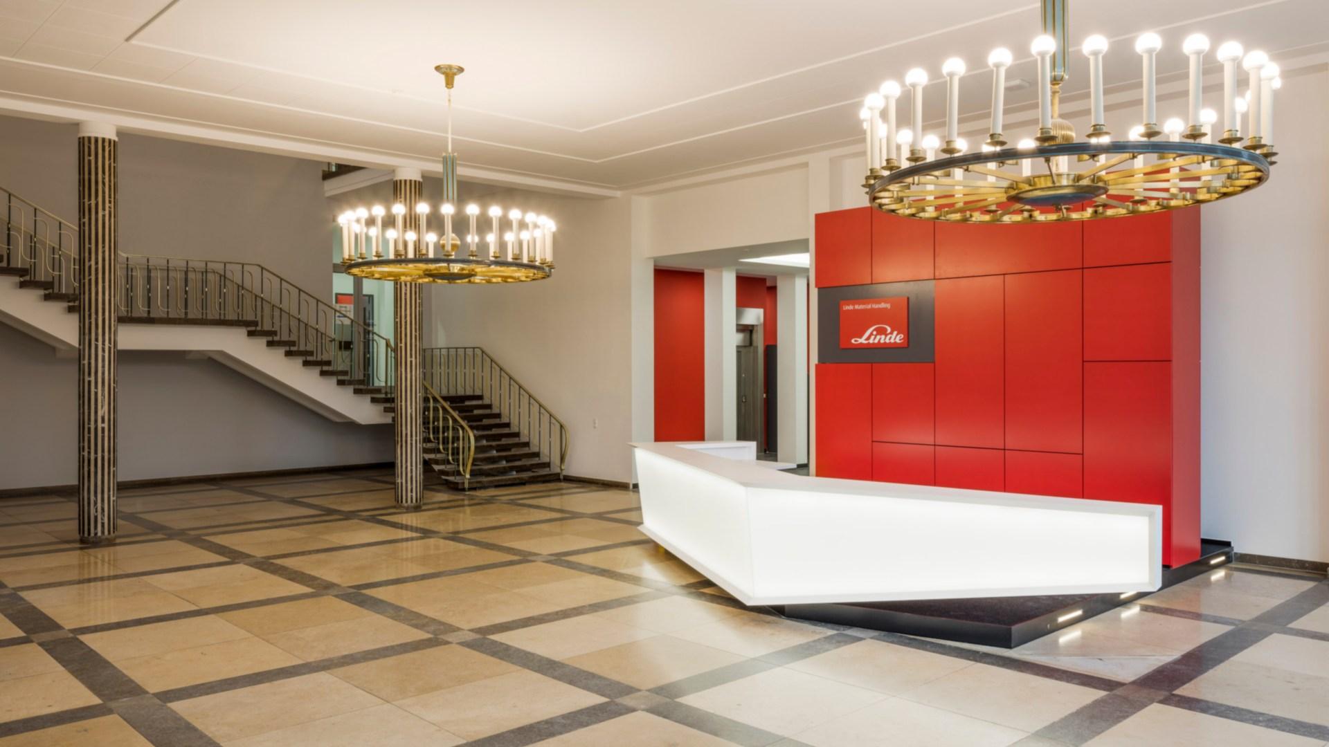 renovated parlour at Linde Material Handling